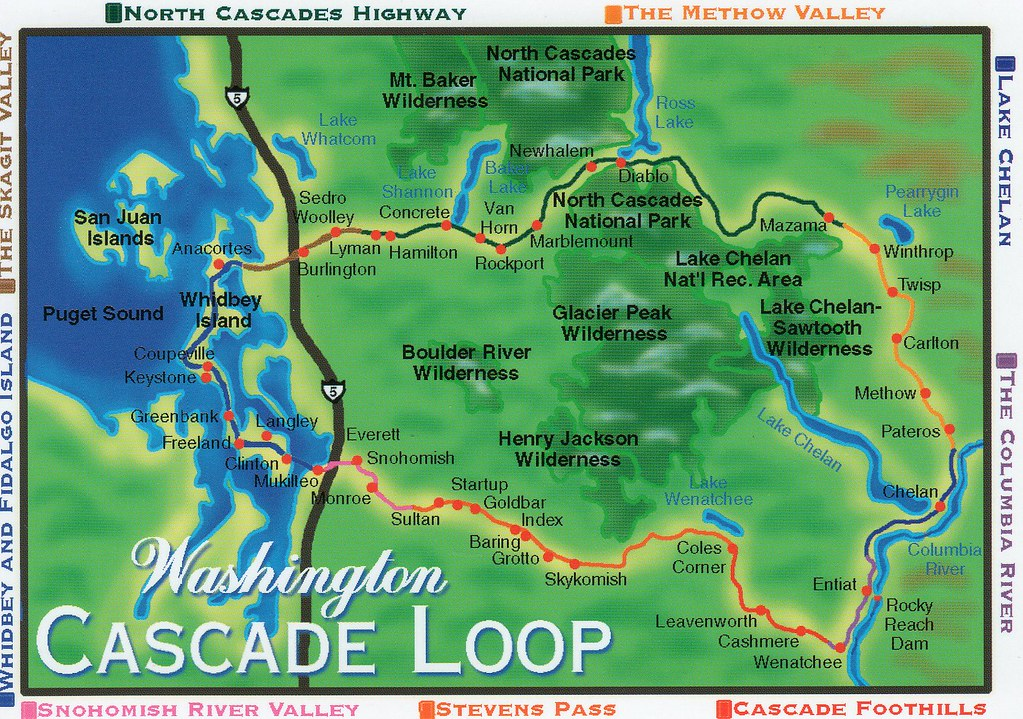 WA Cascade Loop Map | nhigh | Flickr on cascade range, north bend map, provo canyon map, olympic peninsula map, moses lake parks map, washington cascades map, arizona highway mile marker map, washington to oregon map, chinook pass map, straits of mackinac map, north cascades map, eastern washington state map, cascade falls, columbia river washington map, grand canyon backcountry trail map, pine mountain ga trail map, central cascades trail map, highway 20 washington state map, chuckanut drive map, cascade lakes highway oregon,