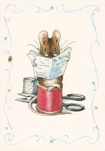 Beatrix Potter Mouse Postcard