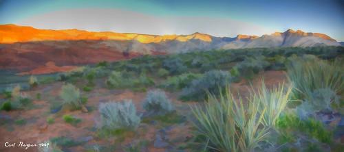 sunrise canon geotagged calico hdr snowcanyon photomatix xti topazsimplify