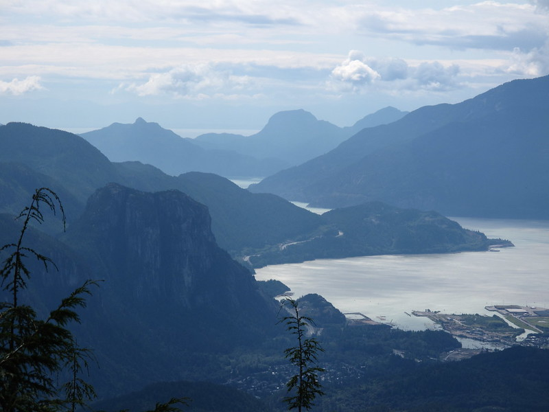 The View of Howe Sound at the Start of the Hike