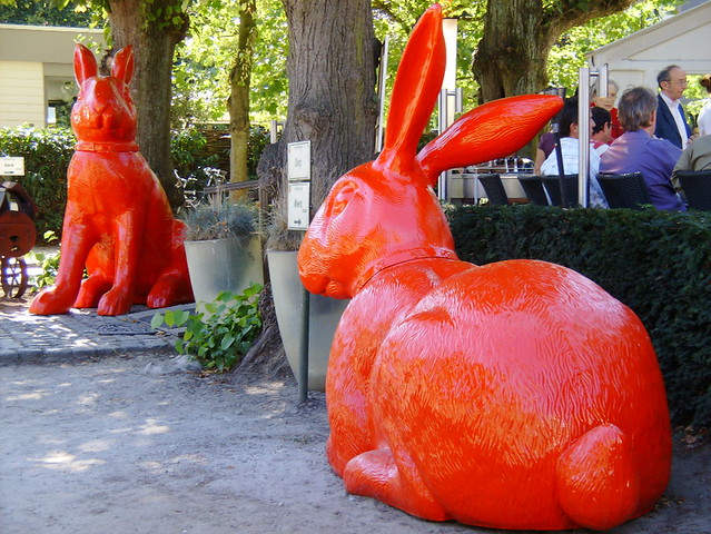 Two rabbits by William Sweetlove