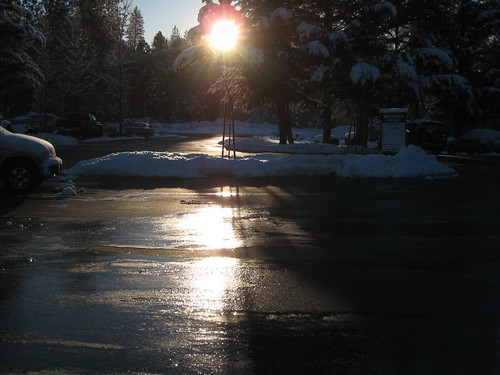 ice sunrise parkinglot norcal grassvalley nevadacounty