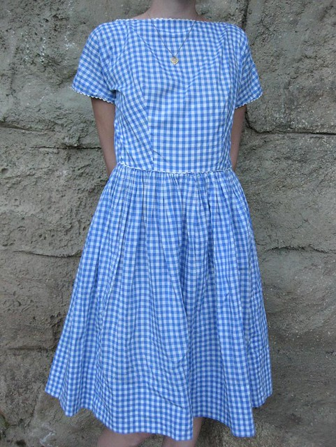 e85771bc16 ... vintage 1950s gingham lanz dress