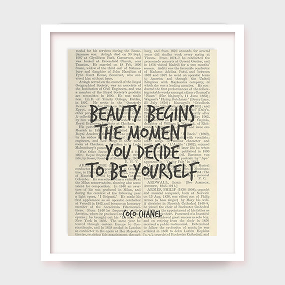 Coco Chanel Decor Beauty Begins The Moment You Decide To