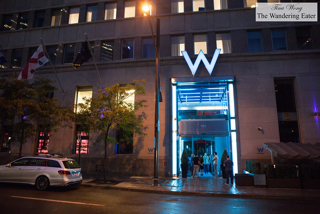 Exterior of W Hotel Montreal