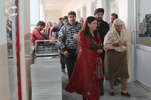 Her Holiness visits in School campus