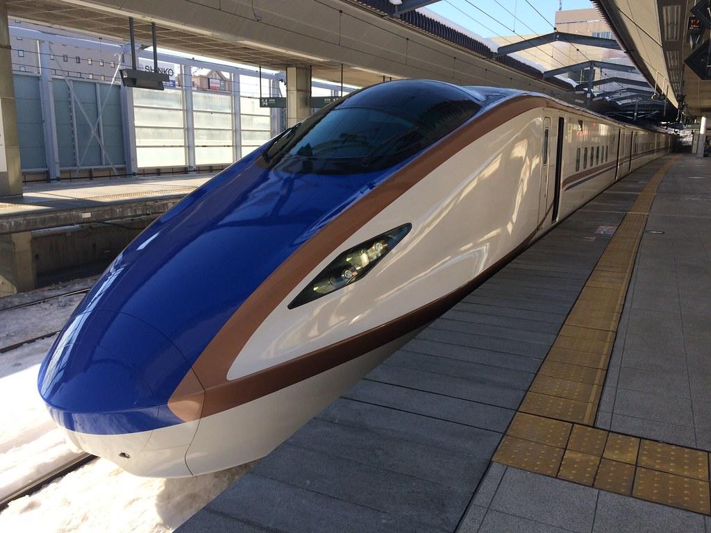 Hokuriku Shinkansen at Nagano-Station