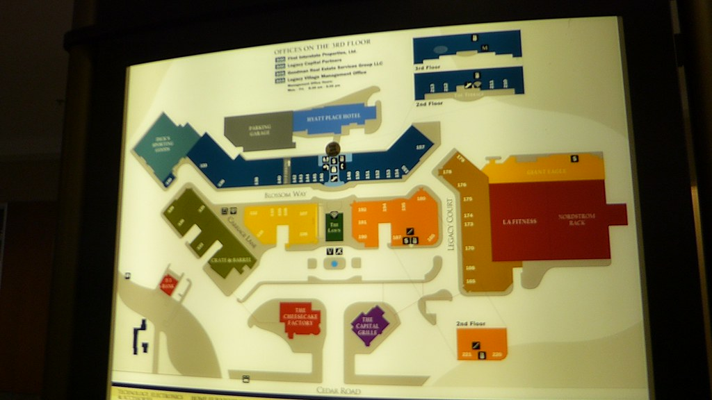 Legacy Village Map Legacy Village map | Legacy Village is a lifestyle center th… | Flickr