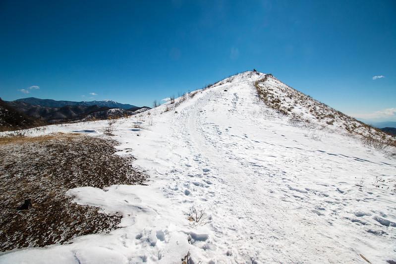 飯盛山 雪山登山