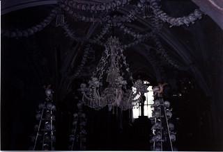 Kutna Hora Sedlec chandelier
