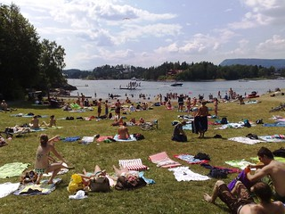 Hot summer at the beach in Oslo Norway #1 | by RennyBA
