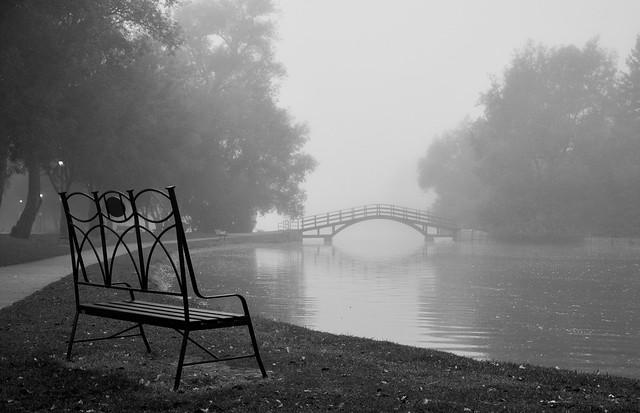 Stratford Ontario Bench Avon River