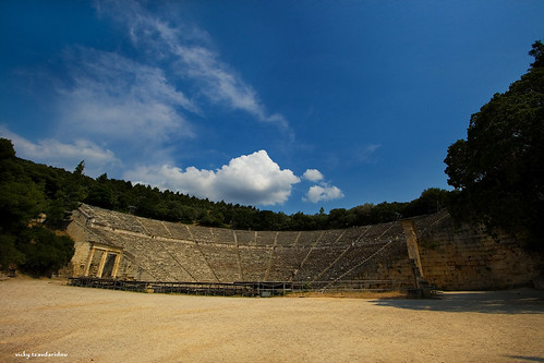 Epidaurus ancient theater | by Vicky Tsavdaridou