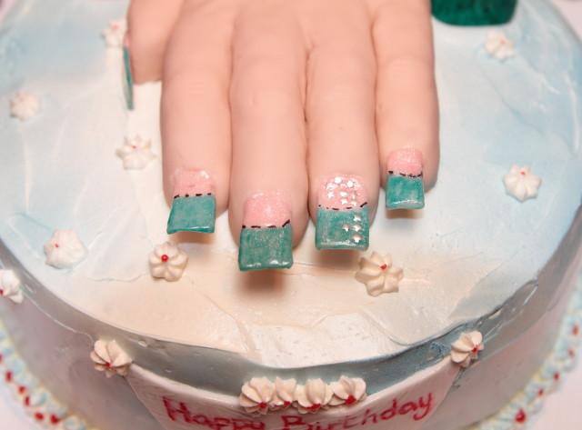 Groovy Manicure Birthday Cake Cake For A Manicurist Copy Of Thei Flickr Funny Birthday Cards Online Inifodamsfinfo