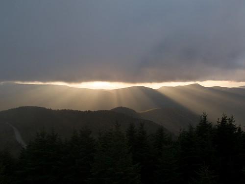 statepark sunset clouds nc summit mountmitchellstatepark