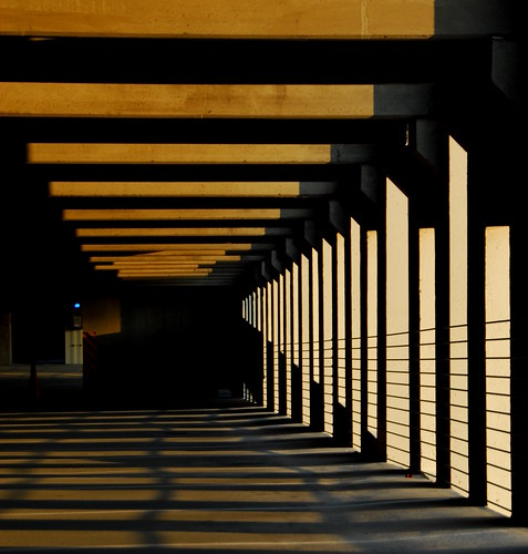 light sunset sun abstract geometric lines modern shadows raleigh minimal carpark parkingdeck bitzcelt