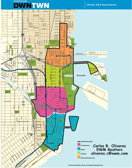 Downtown Miami Map | Map of Brickell / Downtown Miami | Carlos ... on
