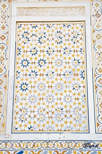 Detail of Petra Dura (inlaid tile work)