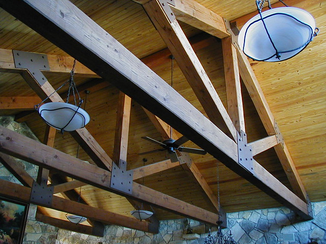timber truss Texas 11 | 36' span Timber Trusses for a Lodge
