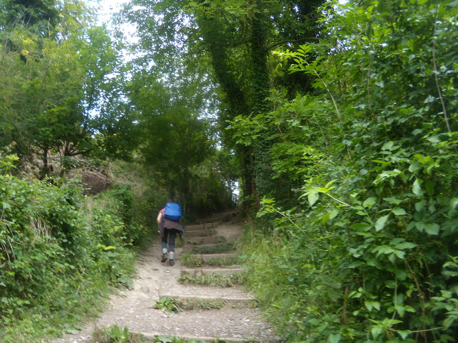 up some steps YHA Pangbourne walk