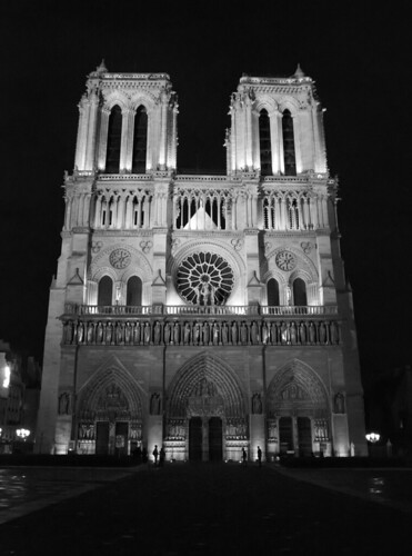 Notre Dame at night