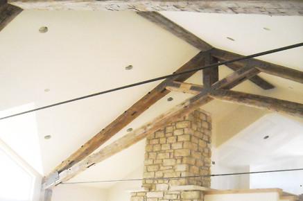 Great Room Trusses-Scissor Truss-Antique Beams-Fireplace | Flickr