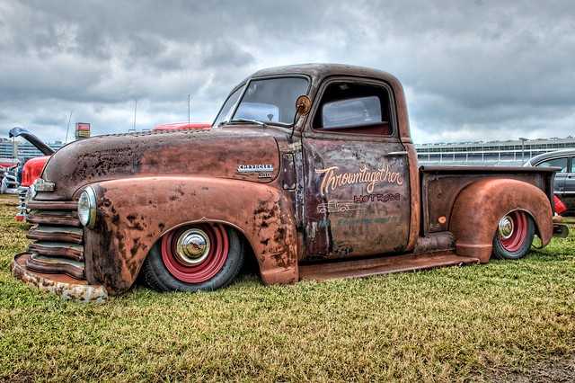 Slammed Rat Chevy at the Southeastern Nationals