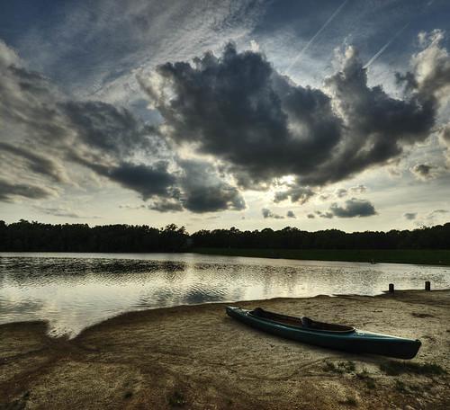 sunset usa clouds boat tramonto nuvole northcarolina cary hdr bondlake massimostrazzeri ziomamo