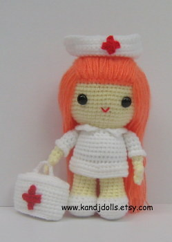 Judith the nurse amigurumi pattern by Sahrit | Crochet doll ... | 350x249