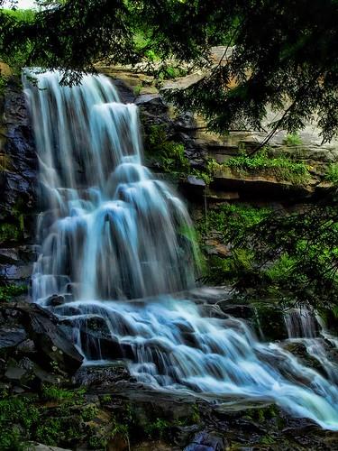 photoshop waterfall pennsylvania olympus waterfalls carbondale photoart topaz cs3 e510 1442 topazadjust3
