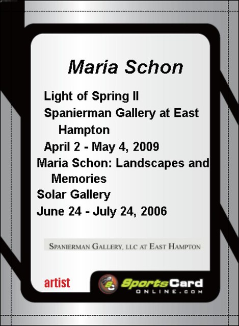 Maria Schon Baseball Card Remix Back 2009 Digital File