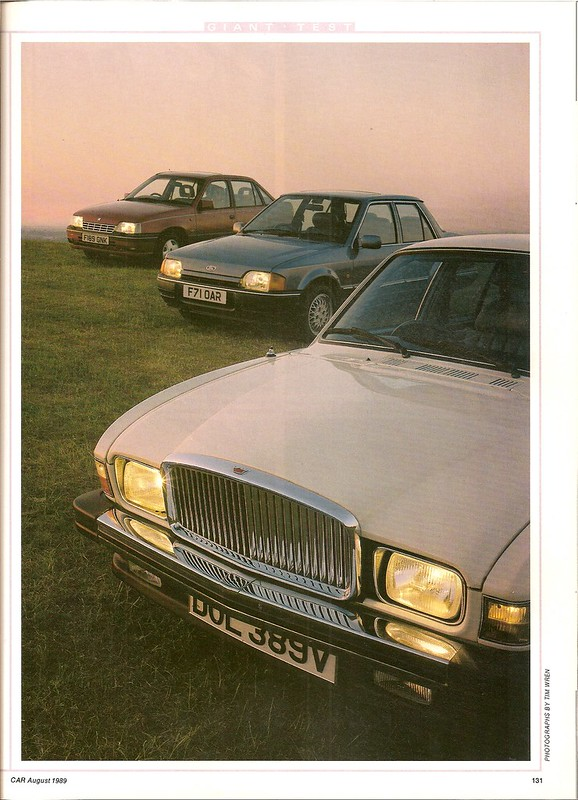 Ford Orion 1600E - Vanden Plas 1500 & Vauxhall Belmont CDi Group Road Test 1989 (2)