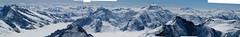 Na rozloučenou pohled z vrcholu Jungfrau k jihu.