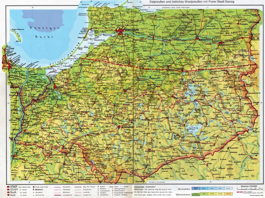 Karte Ostpreußen.003 Ostpreussen Karte Ostpreussen Die Mitte Und Der Sue Flickr