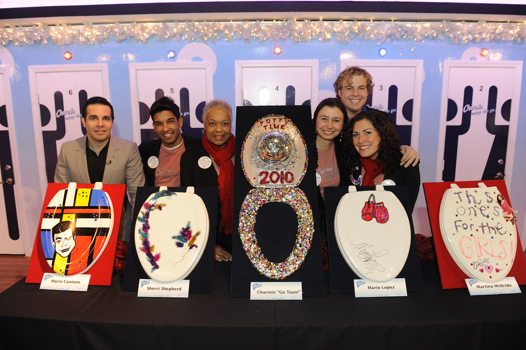 Amazing Unveiling Of Five Celebrity Designed Toilet Seat Covers At Onthecornerstone Fun Painted Chair Ideas Images Onthecornerstoneorg
