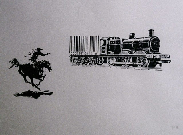 BARCODE - THE GREAT TRAIN ROBBERY by Emo  2009 (c)  modern art