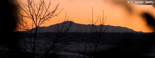 sunset december peak pikes parker franktown coloradodouglascounty