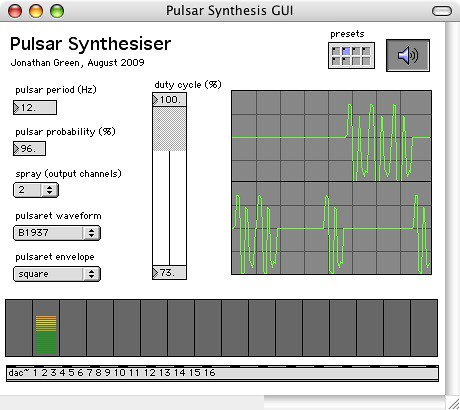 Pulsar Synth Interface | by Jonathan Green