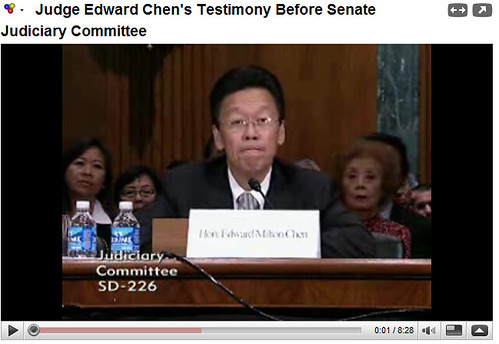Judge Edward Chen Before Senate 01 | I filed a motion for re