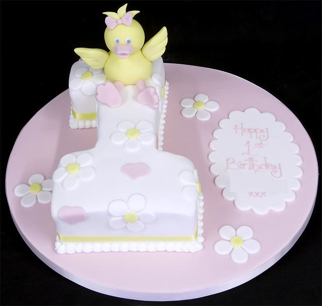 Incredible 002628 Little Duck 1St Birthday Cake Celebration Cake Spec Flickr Funny Birthday Cards Online Alyptdamsfinfo