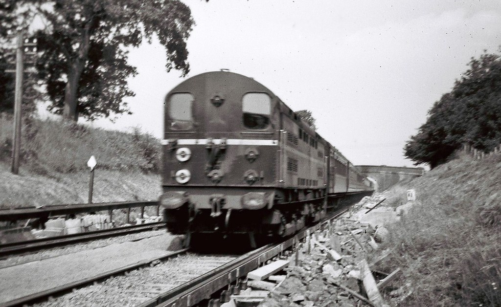 20003 near Spatham Lane between Keymer Jn and Plumpton 0905 Victoria to Newhaven Harbour 17 July 1955