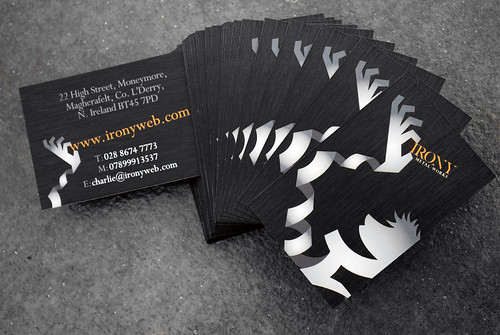 Irony Metal Works Business Card | by Mark Gilmour