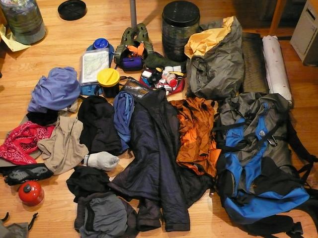 Pre-Hike:  My stuff