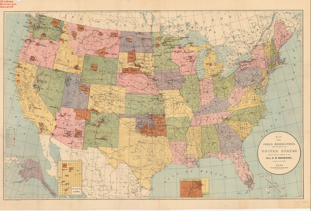 Map of Indian Reservations in U.S. 1893 | Date: 1893 OHS Map… | Flickr