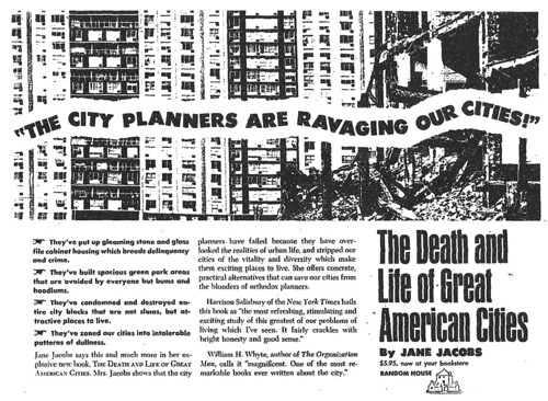 The Death and Life of Great American Cities Random House Ad