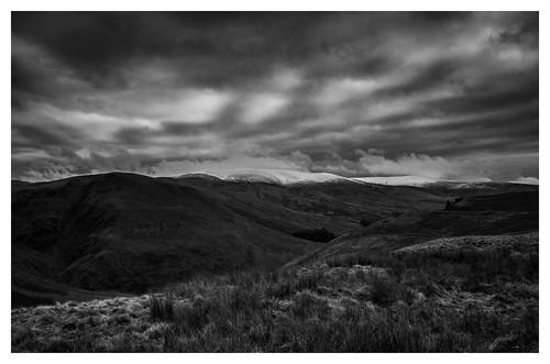 scotland borders hills nature snow clouds moffat desolate