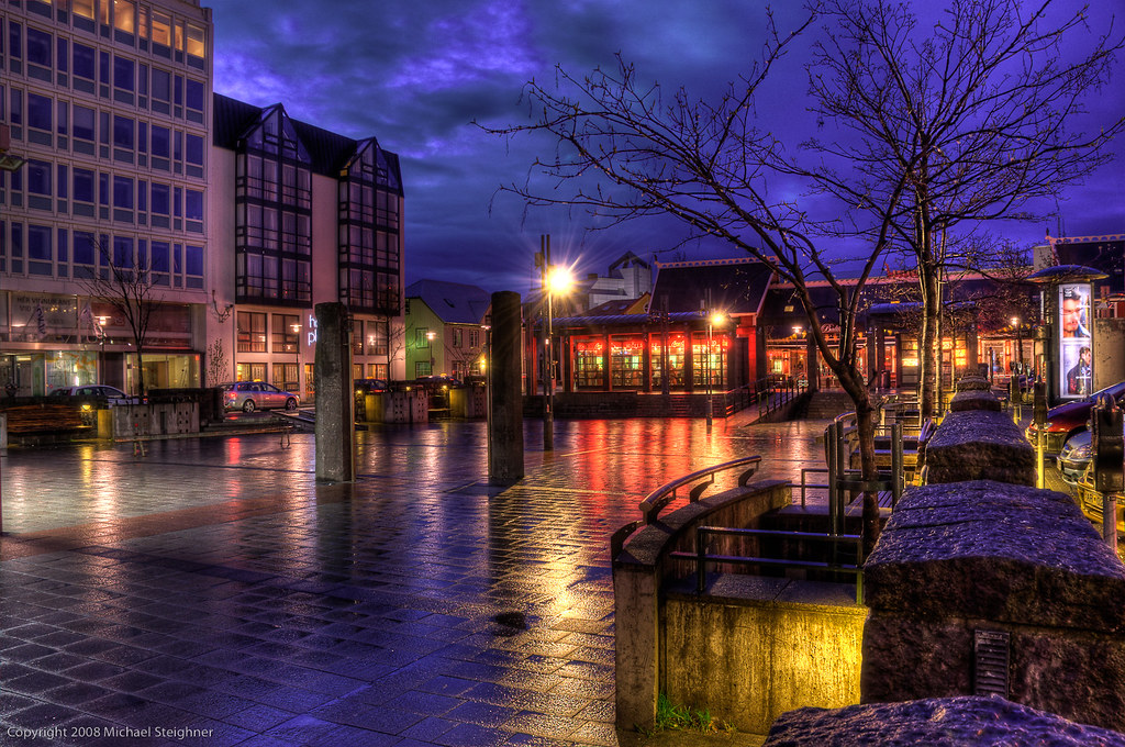 Reflections in the rain - Reykjavik, Iceland by MDSimages.com