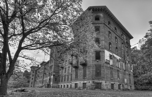 urban bw white ny black building brick castle abandoned high nikon dynamic decay hill off jackson abandon exploration range kellogg hdr decayed decaying hdri crumbling wellness limits urbex dansville d300 sanitorium photomatix castleonthehill thecastleonthehill granoola