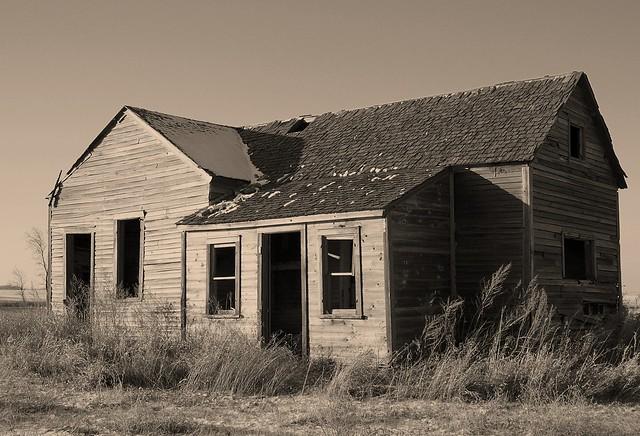Abandoned Farmhouse in Sepia