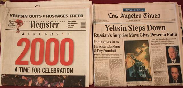 Headlines on Jan. 1, 2000
